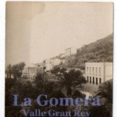 Postales: LA GOMERA. CANARIAS. ALAMEDA. VALLE GRAN REY. ESCRITA 1932. FIRMAS.. Lote 131877250