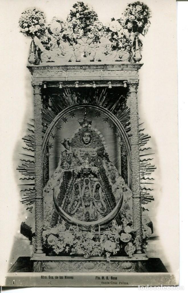 LA PALMA-NTRA SRA DE LAS NIEVES-FOTOGRÁFICA-M.R. ROSA-RARA (Postales - España - Canarias Antigua (hasta 1939))