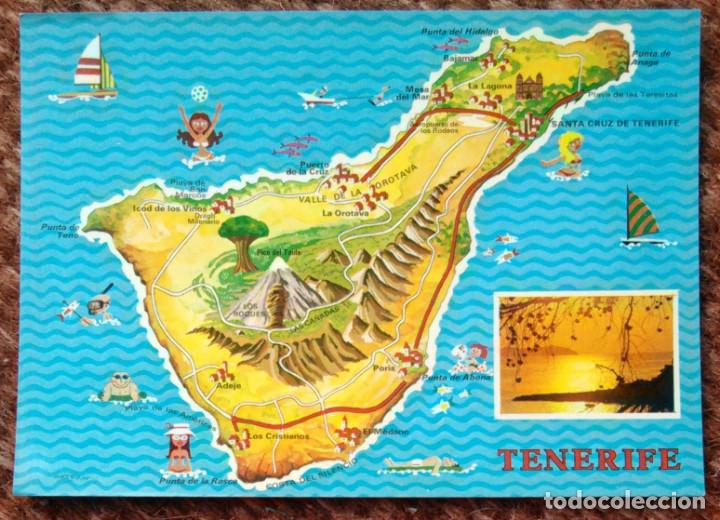 Tenerife Plano Mapa Buy Postcards From Canary Islands At
