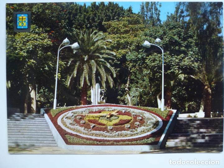 POSTAL. 37. SANTA CRUZ DE TENERIFE. RELOJ FLORAL EN EL PARQUE MUNICIPAL GARCÍA SANABRIA. (Postales - España - Canarias Moderna (desde 1940))