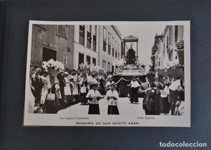 Postales: La Laguna (Tenerife) 1957 Album de 24 postales de la Romería de San Benito Abad. - Foto 2 - 135249826