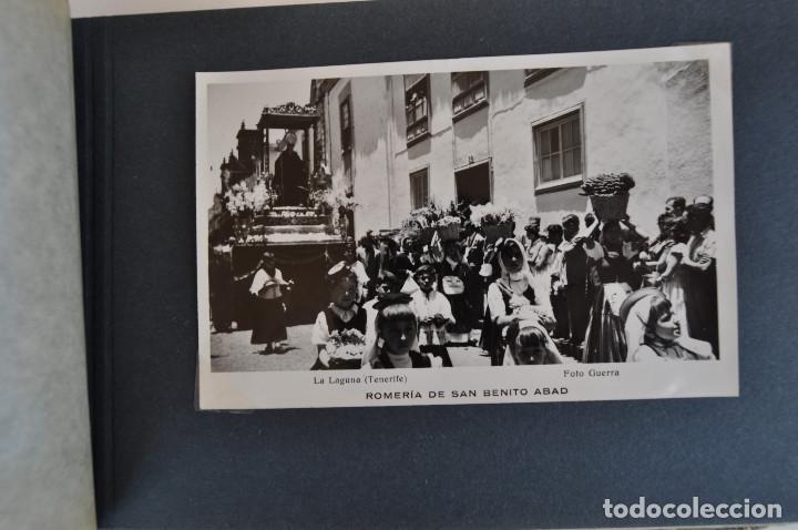 Postales: La Laguna (Tenerife) 1957 Album de 24 postales de la Romería de San Benito Abad. - Foto 3 - 135249826