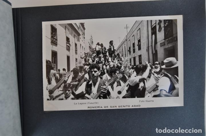 Postales: La Laguna (Tenerife) 1957 Album de 24 postales de la Romería de San Benito Abad. - Foto 5 - 135249826