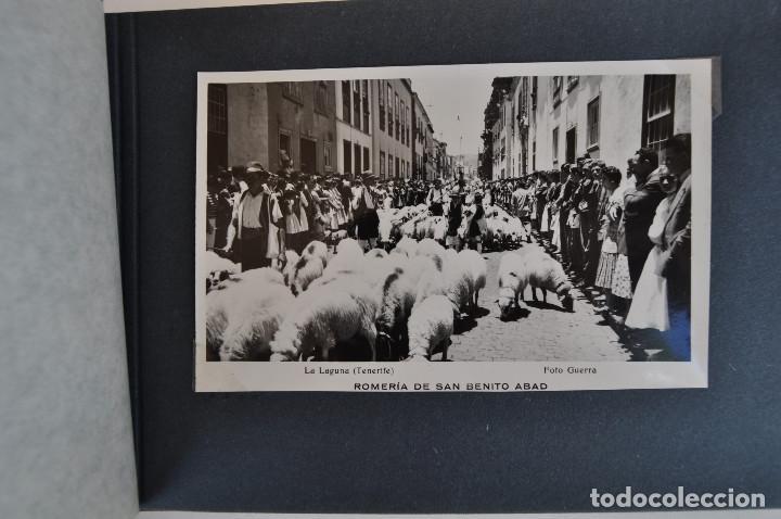 Postales: La Laguna (Tenerife) 1957 Album de 24 postales de la Romería de San Benito Abad. - Foto 6 - 135249826