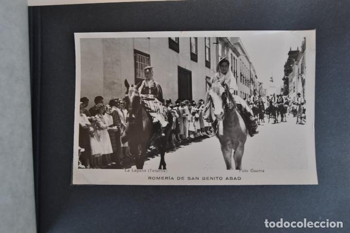 Postales: La Laguna (Tenerife) 1957 Album de 24 postales de la Romería de San Benito Abad. - Foto 7 - 135249826