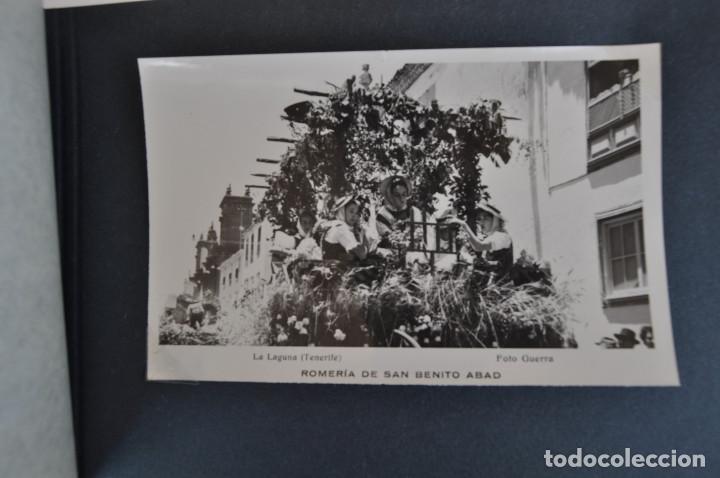 Postales: La Laguna (Tenerife) 1957 Album de 24 postales de la Romería de San Benito Abad. - Foto 8 - 135249826