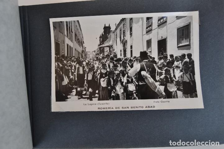 Postales: La Laguna (Tenerife) 1957 Album de 24 postales de la Romería de San Benito Abad. - Foto 9 - 135249826