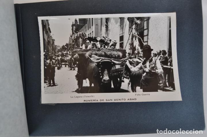 Postales: La Laguna (Tenerife) 1957 Album de 24 postales de la Romería de San Benito Abad. - Foto 10 - 135249826
