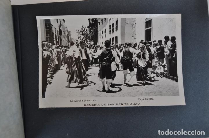 Postales: La Laguna (Tenerife) 1957 Album de 24 postales de la Romería de San Benito Abad. - Foto 11 - 135249826