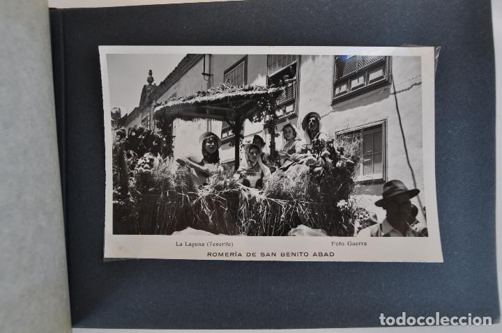 Postales: La Laguna (Tenerife) 1957 Album de 24 postales de la Romería de San Benito Abad. - Foto 12 - 135249826
