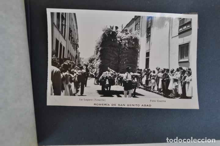 Postales: La Laguna (Tenerife) 1957 Album de 24 postales de la Romería de San Benito Abad. - Foto 14 - 135249826