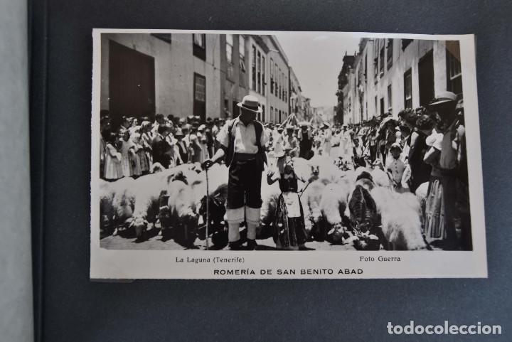 Postales: La Laguna (Tenerife) 1957 Album de 24 postales de la Romería de San Benito Abad. - Foto 17 - 135249826