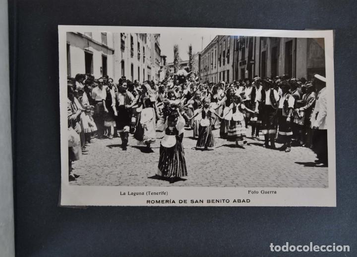 Postales: La Laguna (Tenerife) 1957 Album de 24 postales de la Romería de San Benito Abad. - Foto 20 - 135249826