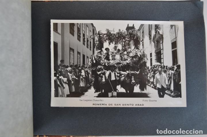 Postales: La Laguna (Tenerife) 1957 Album de 24 postales de la Romería de San Benito Abad. - Foto 23 - 135249826