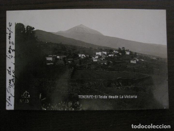 TENERIFE - JG 35 - EL TEIDE DESDE LA VICTORIA - FOTOGRAFICA - (53.324) (Postales - España - Canarias Antigua (hasta 1939))