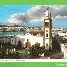 Cartes Postales: POSTAL - VISTA PARCIAL E IGLESIA DE SAN GINES DE ARRECIFE - LANZAROTE -. Lote 136286626