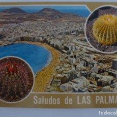 Postales: POSTAL. SOUVENIR DE LAS PALMAS DE GRAN CANARIA. COLECCIÓN HOLIDAYS. NO ESCRITA. . Lote 136740922
