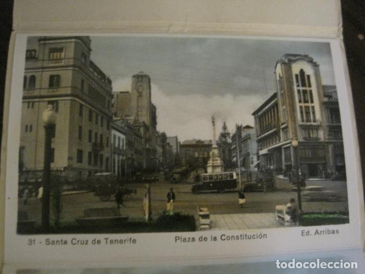 Postales: TENERIFE - BLOC DE 10 POSTALES - SANTA CRUZ, LA LAGUNA & TENERIFE - EDICIONES ARRIBAS - (53.504) - Foto 4 - 136861454