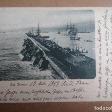 Postales: LAS PALMAS, CANARIAS. POSTAL AÑO 1899, SELLO ALFONSO XIII, PELON. . Lote 137855658