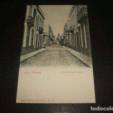 Postales: LAS PALMAS DE GRAN CANARIA CALLE PEREZ GALDOS ED, AUGUST GERBER Nº 18 REVERSO SIN DIVIDIR. Lote 138759882