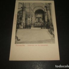 Postales: TENERIFE INTERIOR DE LA CATEDRAL REVERSO SIN DIVIDIR. Lote 139044766