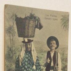 Postales: POSTAL LAS PALMAS DE GRAN CANARIA CANARY TYPES TIPOS CANARIOS BAZAR ALEMAN. Lote 139818426