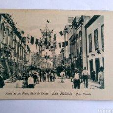 Postales: POSTAL, FIESTA DE LAS FLORES, CALLE TRIANA, LAS PALMAS. GRAN CANARIA.. Lote 140260222