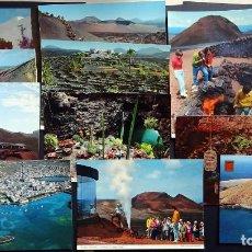 Postales: COLECCIÓN DE 12 POSTALES DE LANZAROTE, AÑOS 60 Y 70, SIN CIRCULAR . VER FOTOS . Lote 140632498