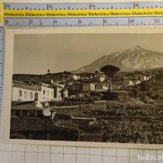 Postais: POSTAL DE TENERIFE. AÑOS 30 50. PAISAJE CANARIO TEIDE AL FONDO. FOTO BAENA. 1547. Lote 141259382