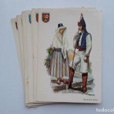 Postales: LOTE 12 POSTALES TRAJES TIPICOS ISLAS CANARIAS, TENERIFE LA GOMERA LANZAROTE FUERTEVENTURA HIERRO . Lote 142042470