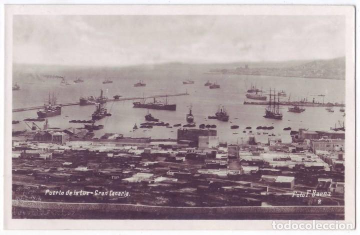 LAS PALMAS DE GRAN CANARIA: PUERTO DE LA LUZ. FOTO F. BAENA. NO CIRCULADA (AÑOS 20 - 30) (Postales - España - Canarias Antigua (hasta 1939))