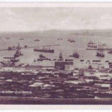 Postales: LAS PALMAS DE GRAN CANARIA: PUERTO DE LA LUZ. FOTO F. BAENA. NO CIRCULADA (AÑOS 20 - 30). Lote 142903522