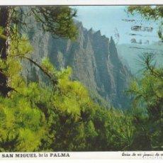 Postales: ISLA DE SAN MIGUEL DE LA PALMA - 122.- PAISAJE EN EL PARQUE NACIONAL DE LA CALDERA. Lote 143164942