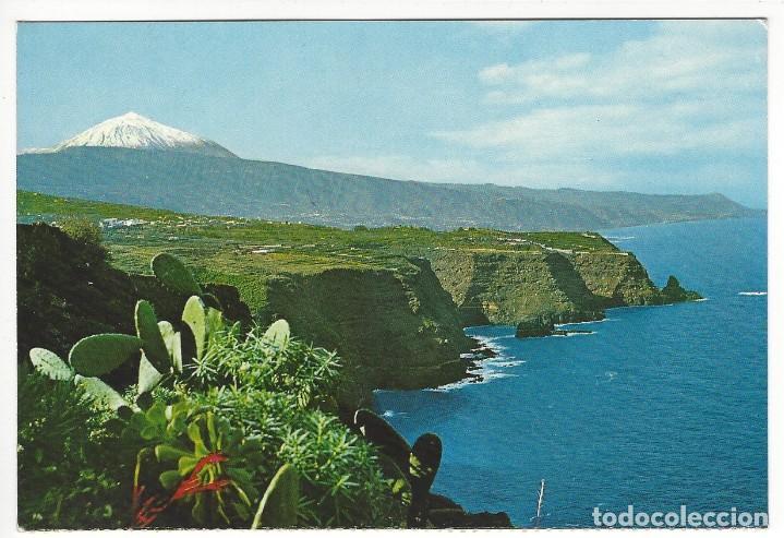 TENERIFE .- PAISAJE CON TEIDE Y MAR (Postales - España - Canarias Moderna (desde 1940))