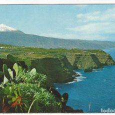 Postales: TENERIFE .- PAISAJE CON TEIDE Y MAR. Lote 143169766