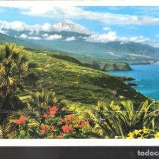 Postales: TENERIFE. PUERTO DE LA CRUZ Y TEIDE.. Lote 143691398
