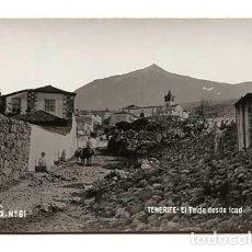 Postales: TENERIFE EL TEIDE DESDE ICOD JG Nº 61. POSTAL FOTOGRÁFICA, SIN CIRCULAR. Lote 144499638