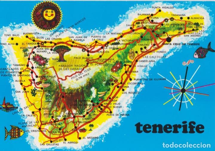 Tenerife Mapa De La Isla Ediciones Gazteiz 2 Buy Postcards