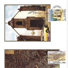 Postais: LAS PALMAS DE GRAN CANARIA - LOTE DE 3 POSTALES Y SELLOS TARJETAS MÁXIMAS - Vº CENTENARIO FUNDACIÓN. Lote 145279618