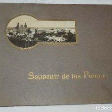 Postales: ALBUM DE FOTOGRAFIAS SOUVENIR DE LAS PALMAS, ISLAS CANARIAS, 26 PAG. MIDE 28 X 21,5 CMS.. Lote 145486698