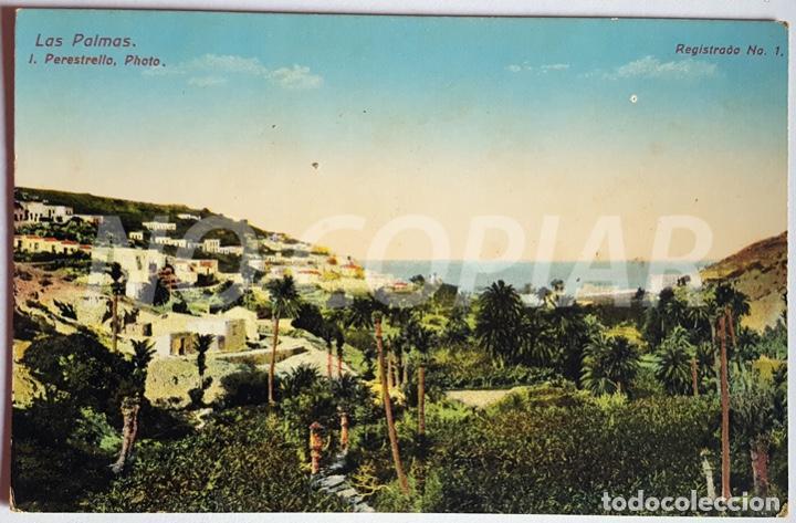 7 POSTALES ANTIGUAS DE LAS PALMAS. EDITOR: J. PERESTRELLO, PHOTO. NUMERADAS. NUEVAS. SIN USO. (Postales - España - Canarias Antigua (hasta 1939))