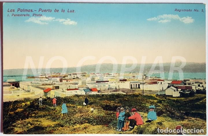 Postales: 7 POSTALES ANTIGUAS DE LAS PALMAS. EDITOR: J. PERESTRELLO, PHOTO. NUMERADAS. NUEVAS. SIN USO. - Foto 2 - 146293026