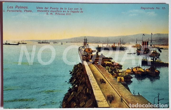 Postales: 7 POSTALES ANTIGUAS DE LAS PALMAS. EDITOR: J. PERESTRELLO, PHOTO. NUMERADAS. NUEVAS. SIN USO. - Foto 4 - 146293026
