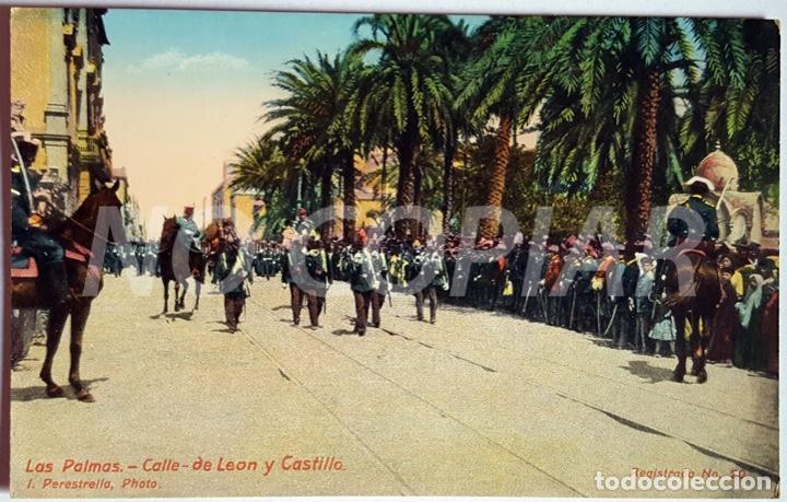 Postales: 7 POSTALES ANTIGUAS DE LAS PALMAS. EDITOR: J. PERESTRELLO, PHOTO. NUMERADAS. NUEVAS. SIN USO. - Foto 5 - 146293026