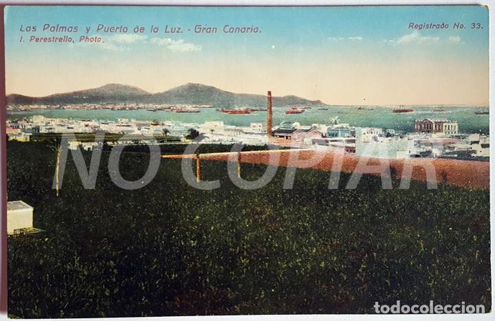 Postales: 7 POSTALES ANTIGUAS DE LAS PALMAS. EDITOR: J. PERESTRELLO, PHOTO. NUMERADAS. NUEVAS. SIN USO. - Foto 7 - 146293026