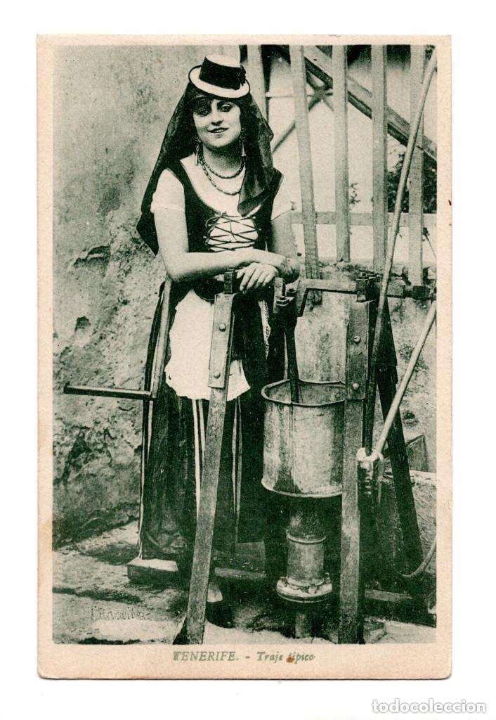 SANTA CRUZ DE TENERIFE.- TRAJE TIPICO (Postales - España - Canarias Antigua (hasta 1939))
