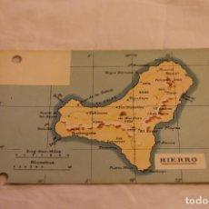 Postales: TARJETA POSTAL UNION POSTAL UNIVERSAL MAPA ISLA DEL HIERRO CANARIAS 3705 SIN CIRCULAR. Lote 146537622