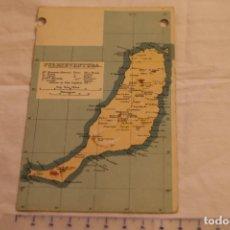 Postales: TARJETA POSTAL UNION POSTAL UNIVERSAL MAPA ISLA FUERTEVENTURA CANARIAS 3701 SIN CIRCULAR. Lote 146537786