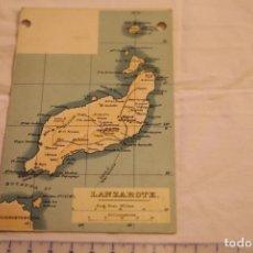 Postales: TARJETA POSTAL UNION POSTAL UNIVERSAL MAPA ISLA LANZAROTE CANARIAS 3702 SIN CIRCULAR. Lote 146538190