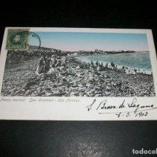 Postcards - LAS PALMAS SAN CRISTOBAL FAENA MARINA REVERSO SIN DIVIDIR - 146977950